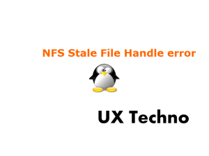NFS Stale File Handle error