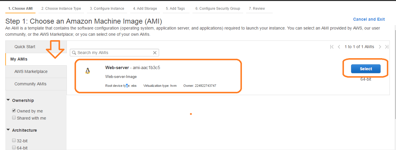 create custom AMI in AWS