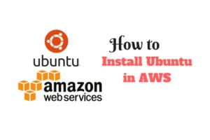 install Ubuntu in AWS