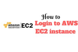 login to AWS EC2 instance