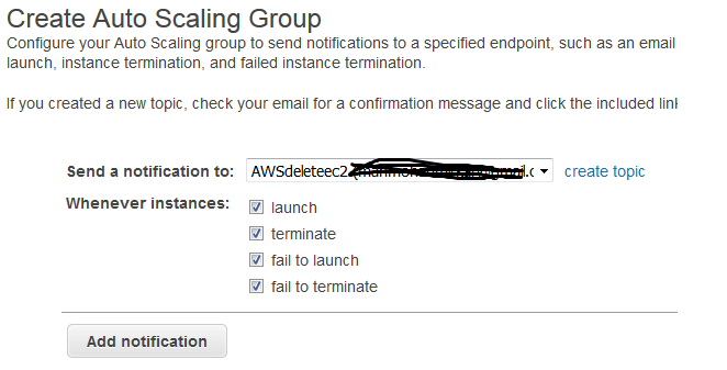 configure-setup auto scaling in AWS
