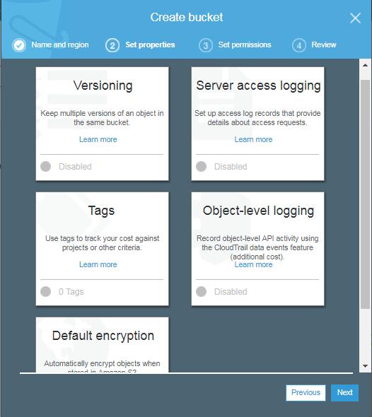 configure s3 bucket in AWS