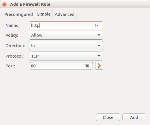 setup ubuntu firewall