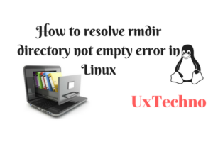 rmdir directory not empty