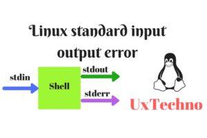 Linux standard input output error